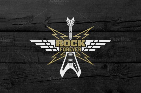 guitar music logo template download