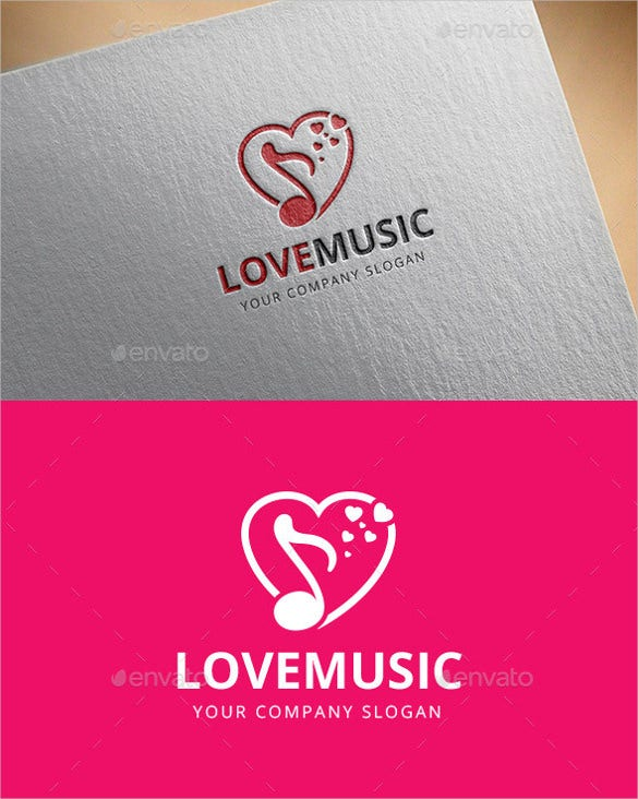 heart music logo template download
