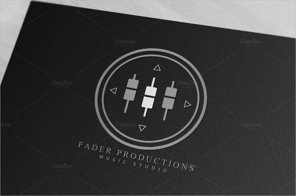 unique music audio production logo download