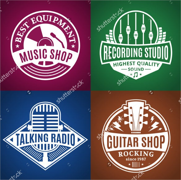 set of vector music logo download1