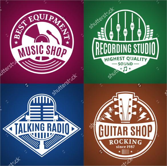 set of vector music logo download1