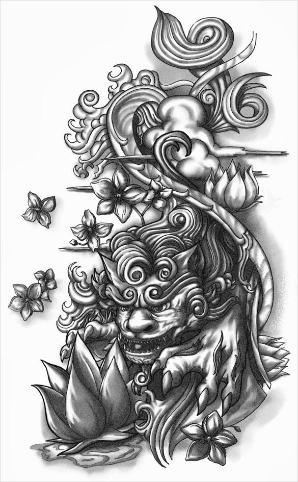 24 tattoo drawings free psd ai vector eps pdf format for Designing a tattoo sleeve template