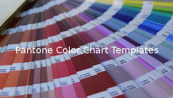 pantone color chart templates