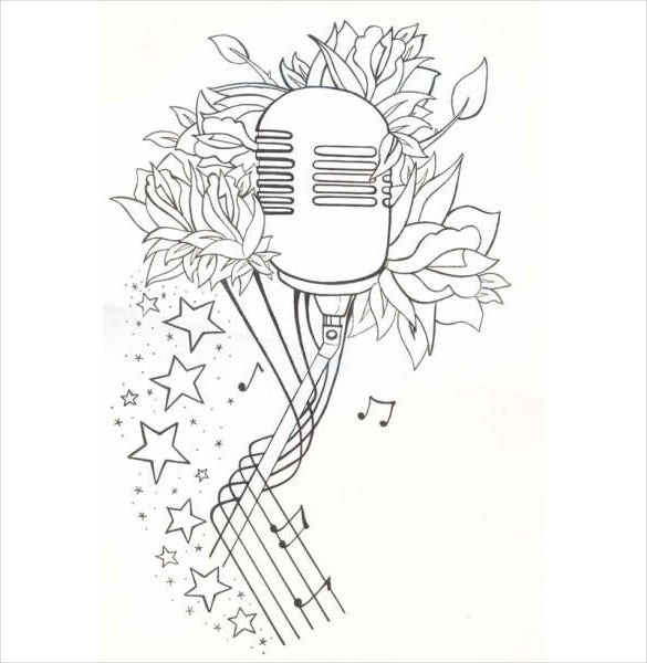 mic tattoo drawing download