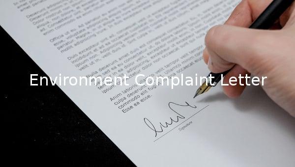 environment complaint letter2
