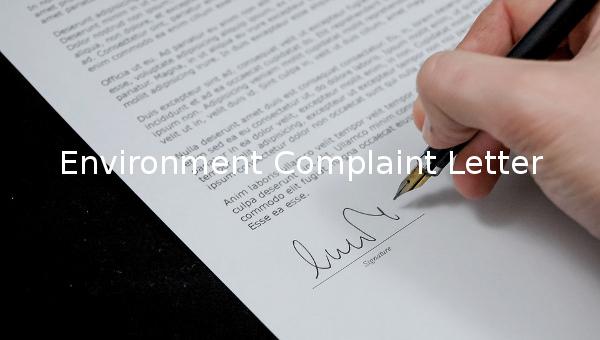 environmentcomplaintletter2