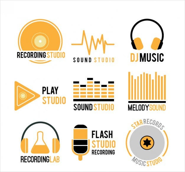 music logo free vector download