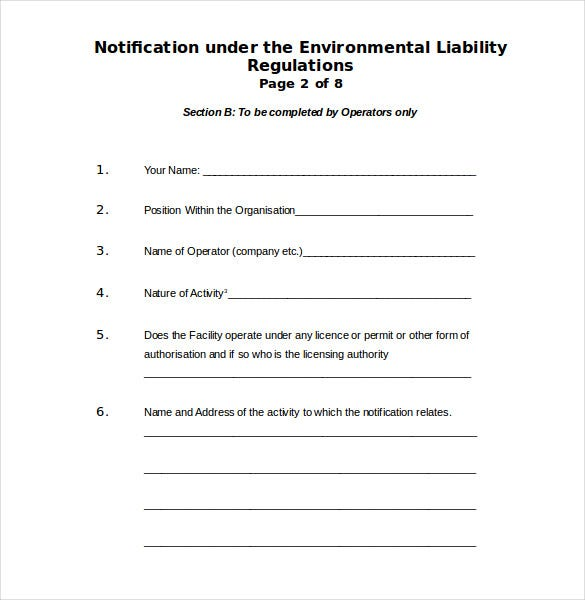 Free Sample Environment Complaint Form Free Download