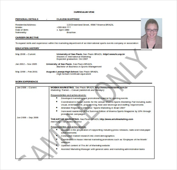 25 Word Professional Resume Template Free Download