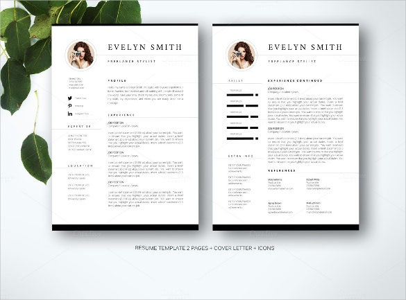 modern elegant professional word resume template