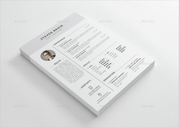 Smart Object Professional Resume Word Template
