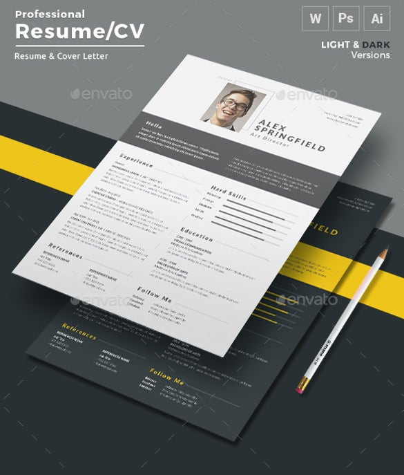 super modern professional resume in word format