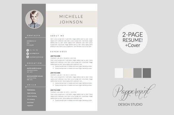 professional resume with cover letter word template