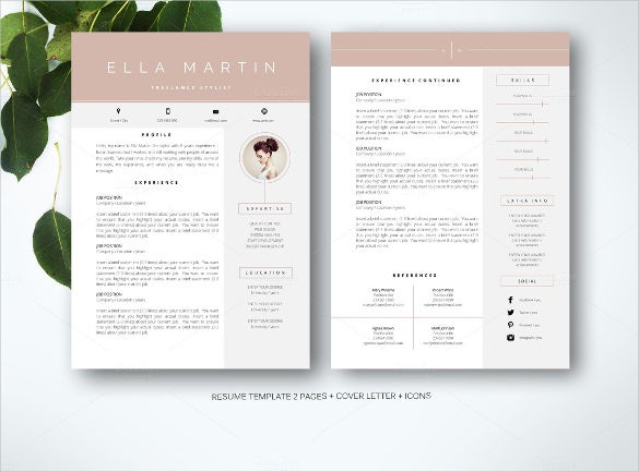 combine nicely professional resume word format template - Resume Word Format