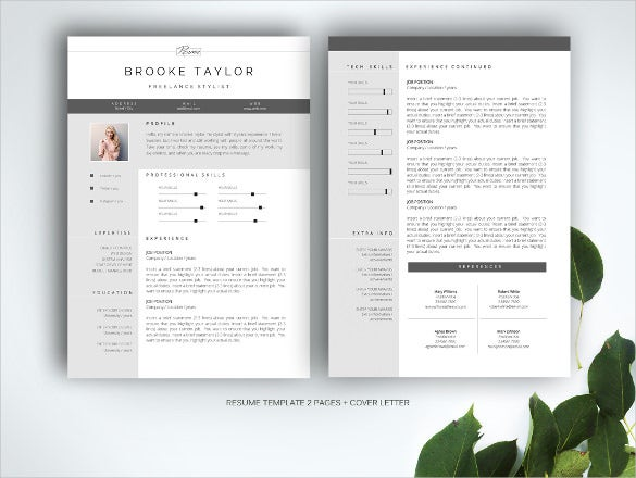 Good Looking Professional Resume Word Format  Professional Looking Resume