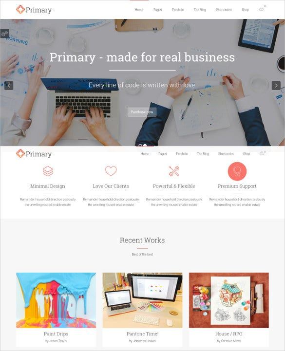 primary business wordpress theme