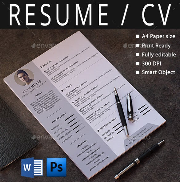 Example Resume Creative Resume Template Microsoft Word With  Microsoft Resume Templates Download