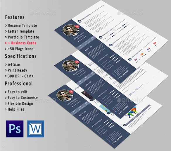 perfect professional resume template word format download - Attractive Resume Templates Free Download
