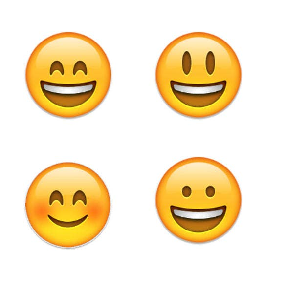 happy face emoji with smiling eyes
