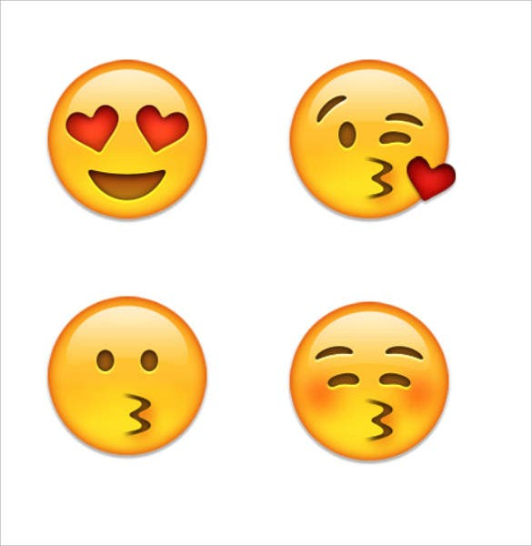 emoji romantic kissing face