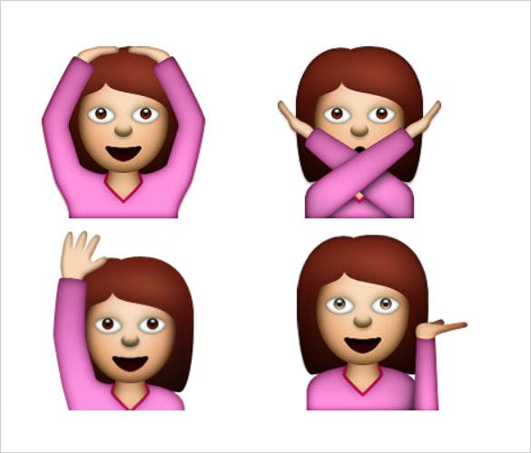 women emoji picture with actions download