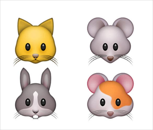emoji small animal face picture download