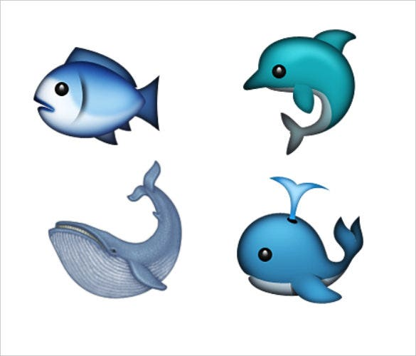 water animal emoji pictures to download