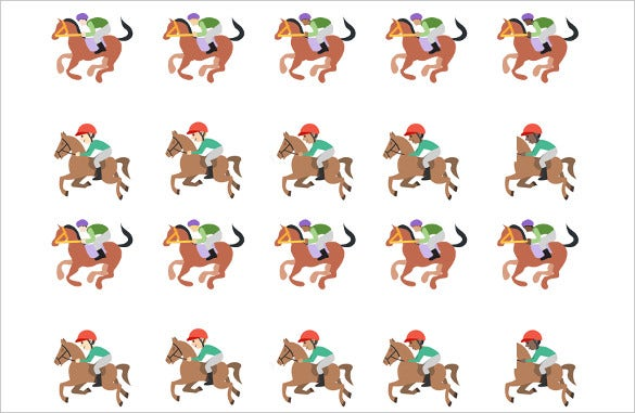 adds and removes diversity horse racing emojis