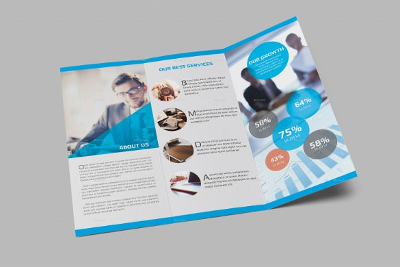 coporate tri fold brochure template indesign download