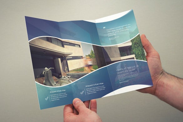 multipurpose tri fold brochure template free download