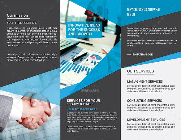 advertising tri fold brochure template