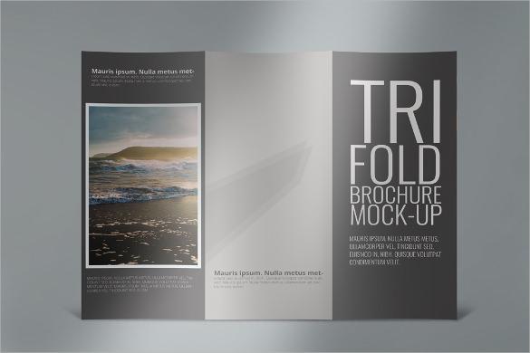 realistic tri fold brochure template