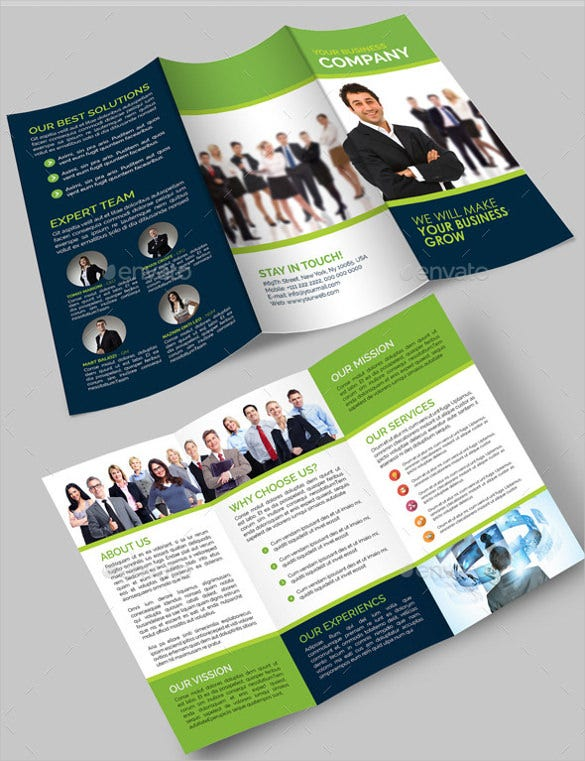 customizable tri fold brochure template