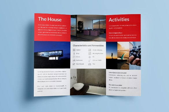 rent my home tri fold brochure template download