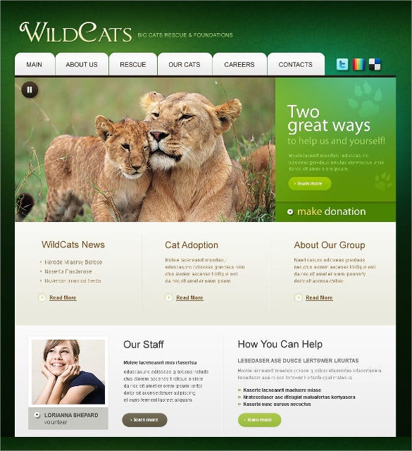 wild life animal pets psd template 11