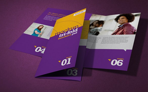 nt photorealistic tri fold brochure template