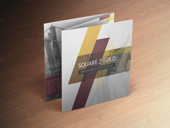 square fold brochure template