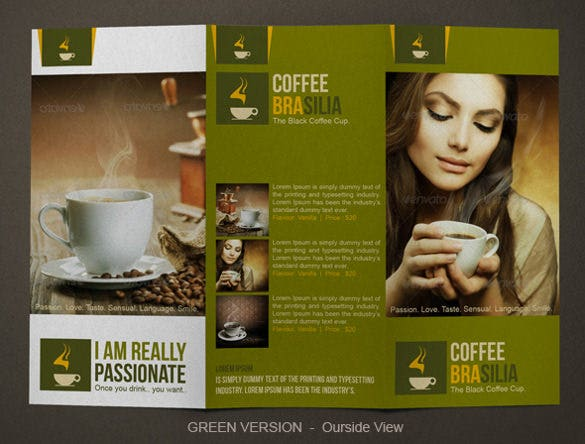 coffee brochure tri fold modern design