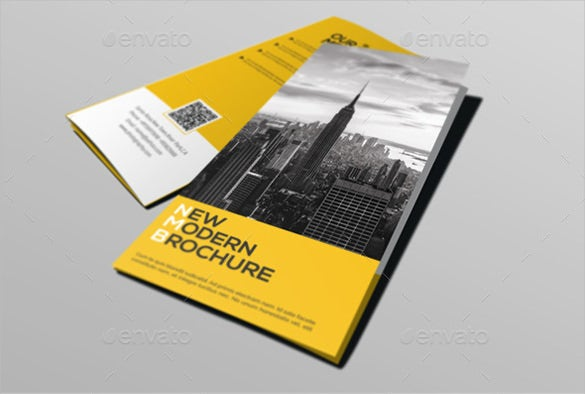very easy to use corporate tri fold brochure template