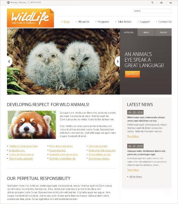 premium wild life animal pets psd template 11