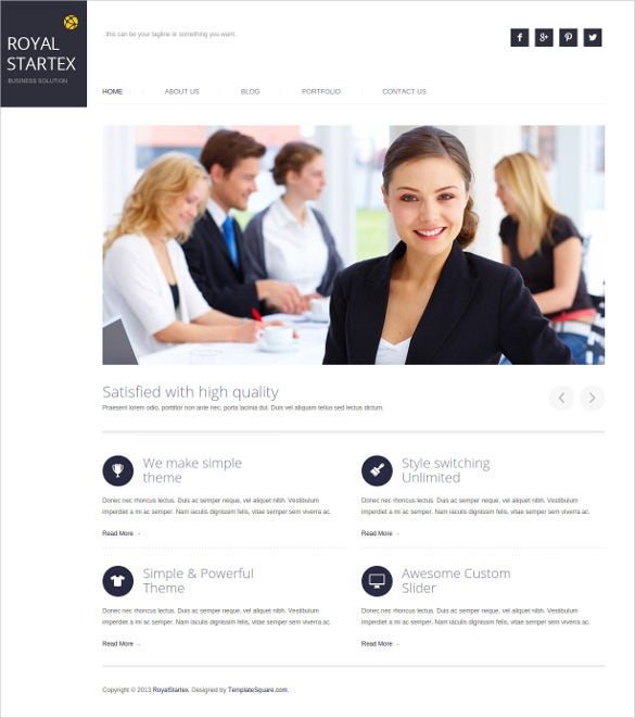 minimalist business wordpress theme1