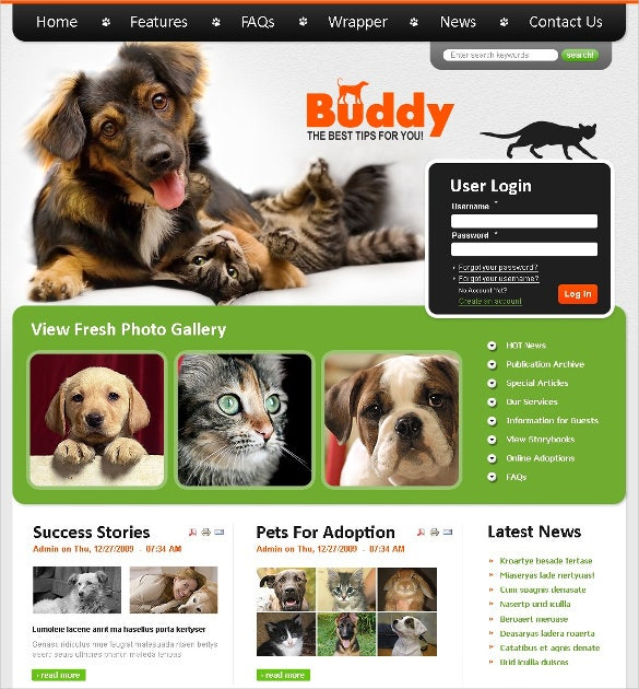 animal smart pet dog psd template 11
