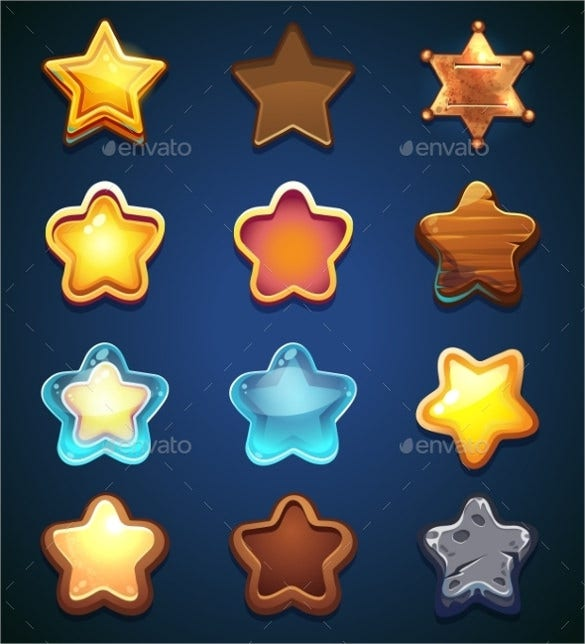 amazing collection star icons download