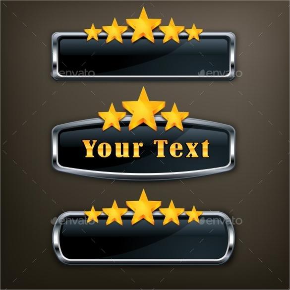 gold star metallic icons download