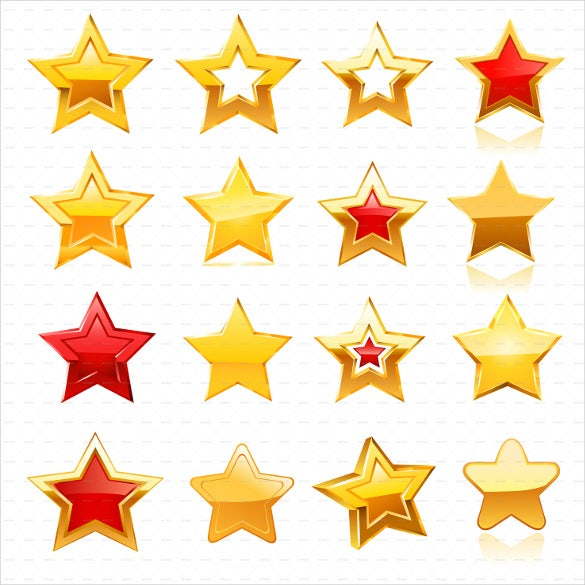 golden star icon set download1