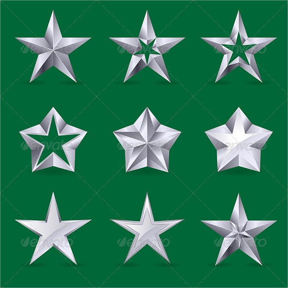 modern star icon set download