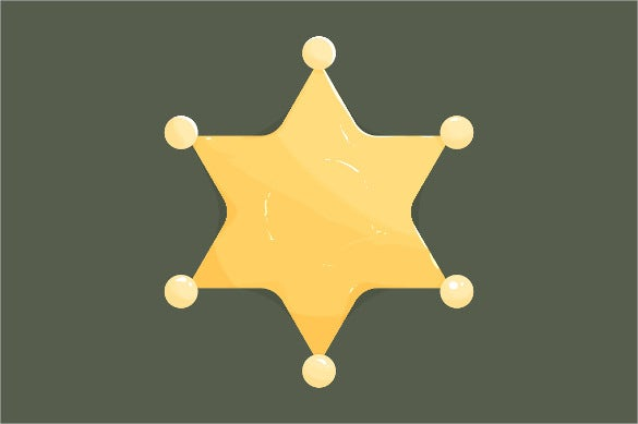 blank golden sheriff star icon download