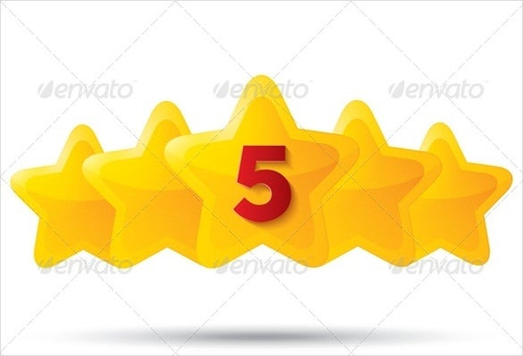 five golden star icon download