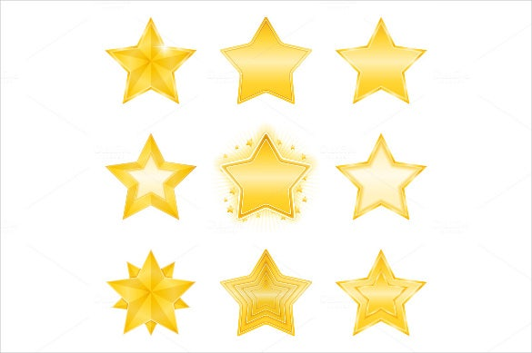 colorful star icon set download