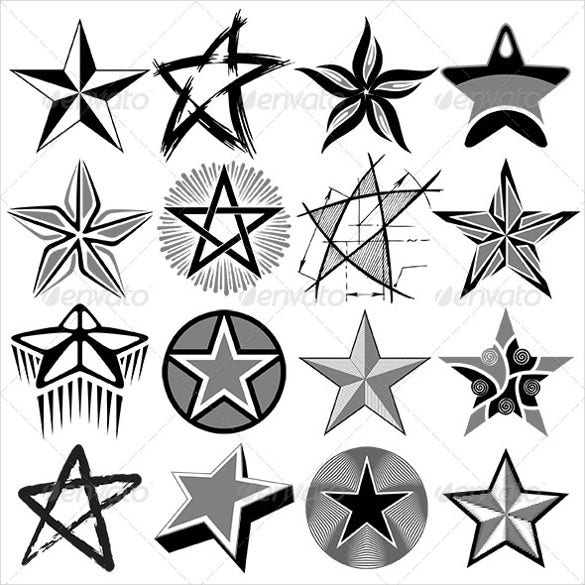 amazing star vector set download